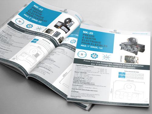 réalisation d'un catalogue de fiches produits industriels