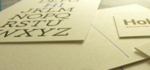 carte de visite papier luxueux letterpress