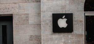 exemple de flat design avec le logo apple