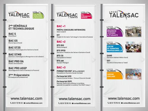 Tissus imprimés pour le lycée Talensac