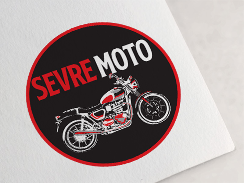 Logo garage moto scooter