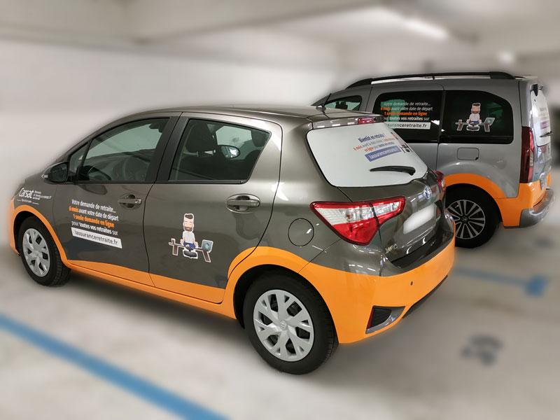 Semi covering voiture de fonction